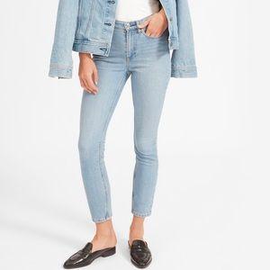 Everlane High-Rise Skinny Ankle Jeans Sky Blue Sz 31